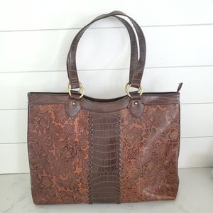 Gorgeous Floral Embossed Bag Coldwater Creek